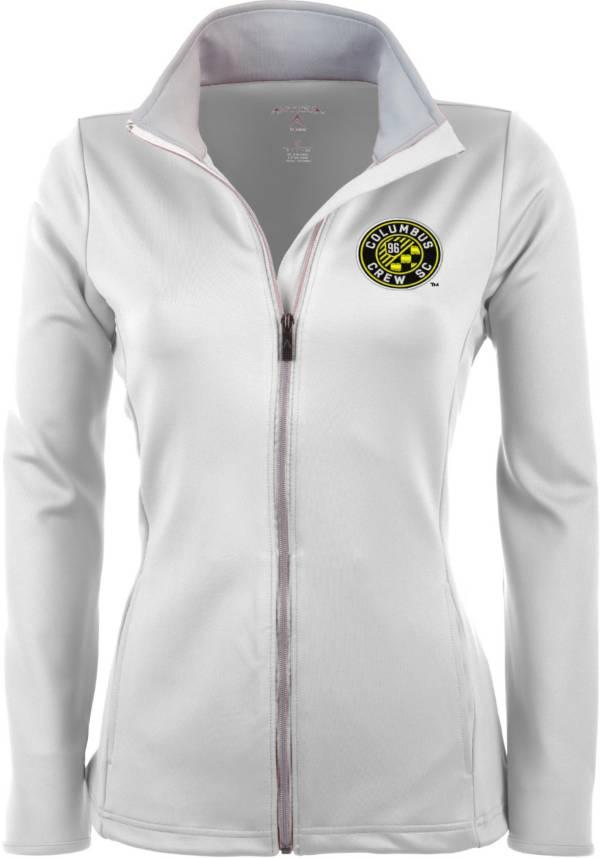 Antigua Women's Columbus Crew White Leader Full-Zip Jacket product image