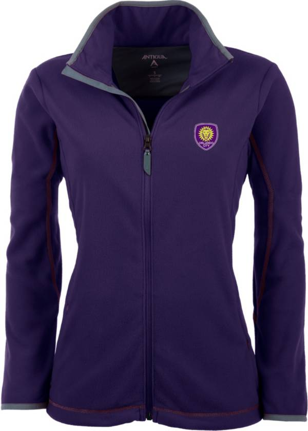 Antigua Women's Orlando City Purple Ice Full-Zip Fleece Jacket product image