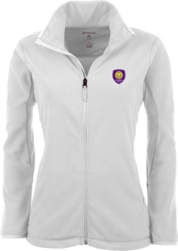 Antigua Women's Orlando City White Ice Full-Zip Fleece Jacket product image