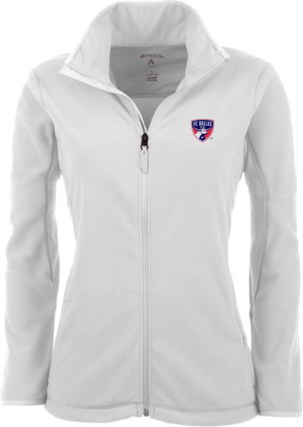 Antigua Women's FC Dallas White Ice Full-Zip Fleece Jacket product image