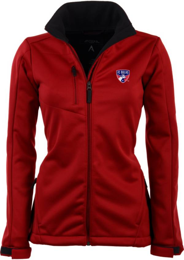 Antigua Women's FC Dallas Traverse Red Soft-Shell Full-Zip Jacket product image