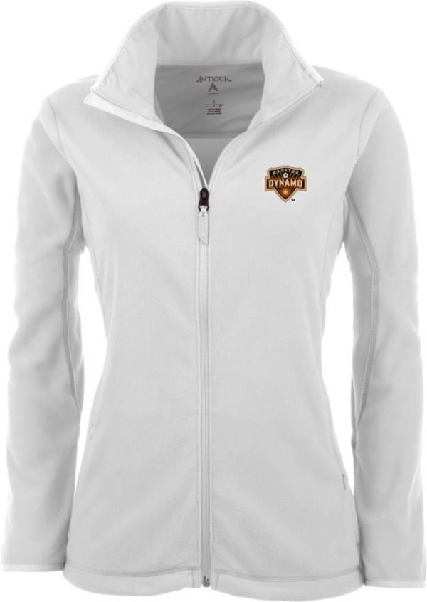 Antigua Women's Houston Dynamo White Ice Full-Zip Fleece Jacket product image