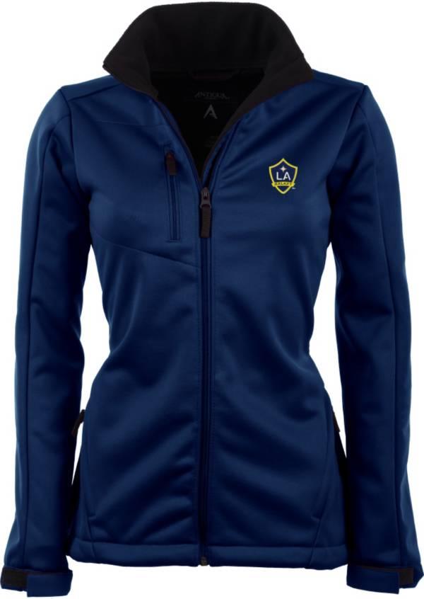 Antigua Women's Los Angeles Galaxy Traverse Navy Soft-Shell Full-Zip Jacket product image