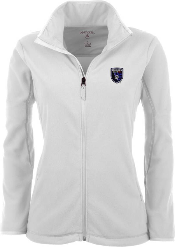 Antigua Women's San Jose Earthquakes White Ice Full-Zip Fleece Jacket product image