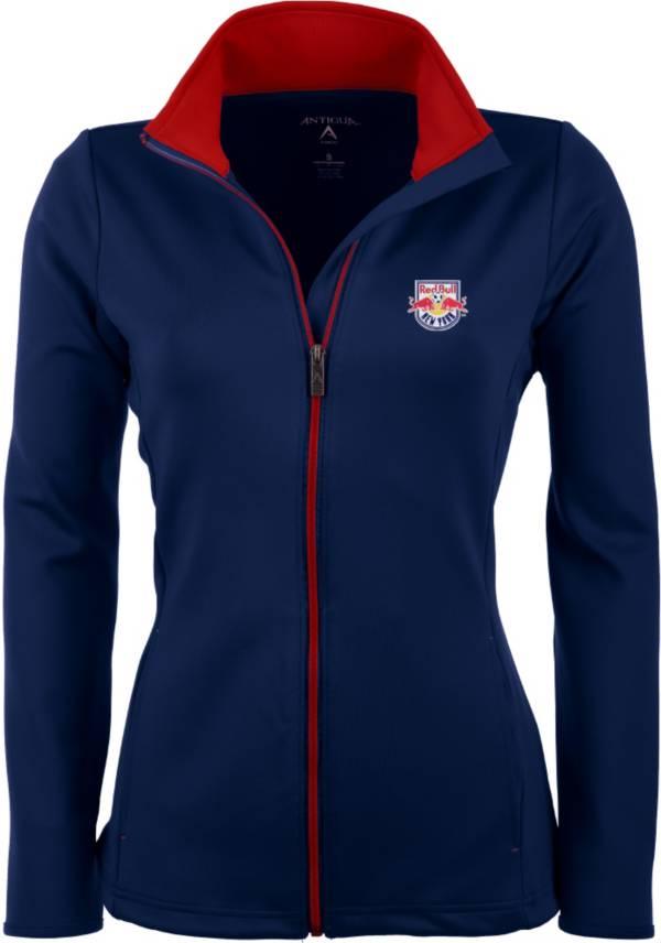 Antigua Women's New York Red Bulls Navy Leader Full-Zip Jacket product image