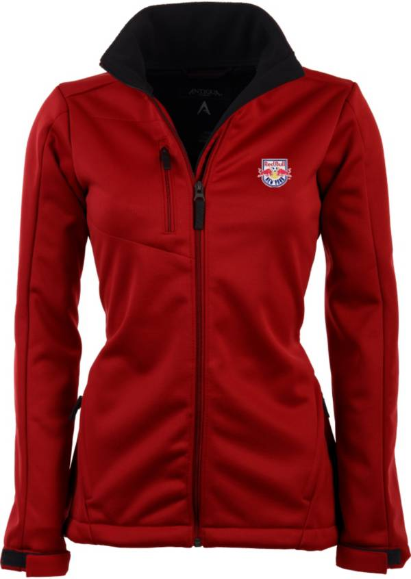 Antigua Women's New York Red Bulls Traverse Red Soft-Shell Full-Zip Jacket product image