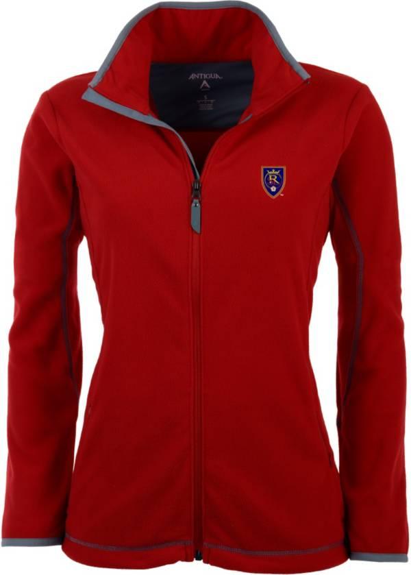Antigua Women's Real Salt Lake Red Ice Full-Zip Fleece Jacket product image