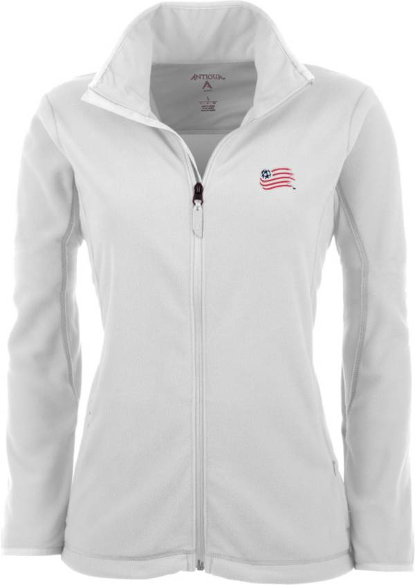 Antigua Women's New England Revolution White Ice Full-Zip Fleece Jacket product image