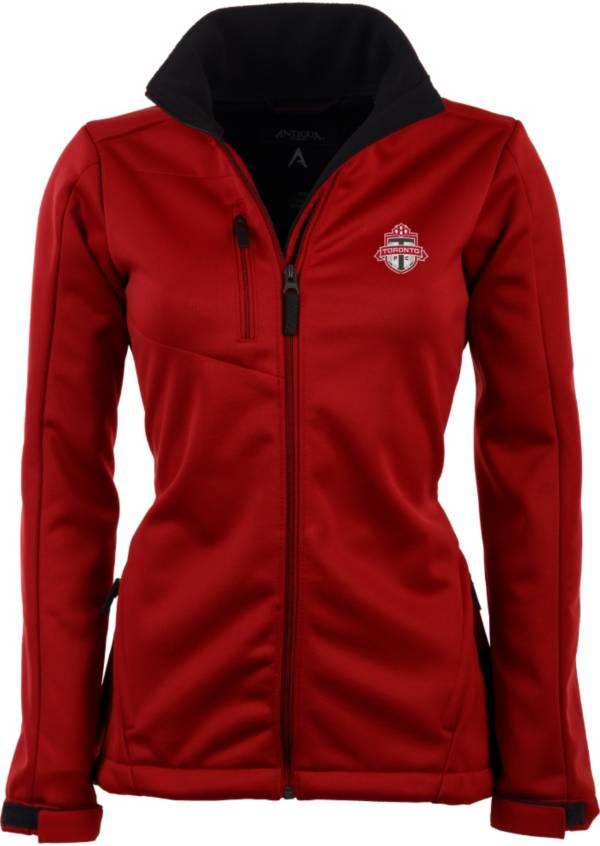 Antigua Women's Toronto FC Traverse Red Soft-Shell Full-Zip Jacket product image