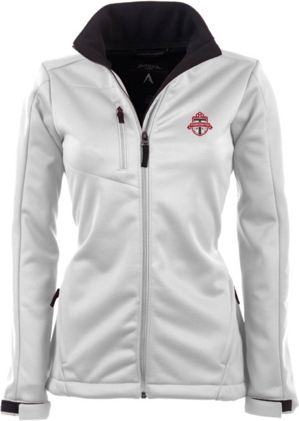 Antigua Women's Toronto FC Traverse White Soft-Shell Full-Zip Jacket product image