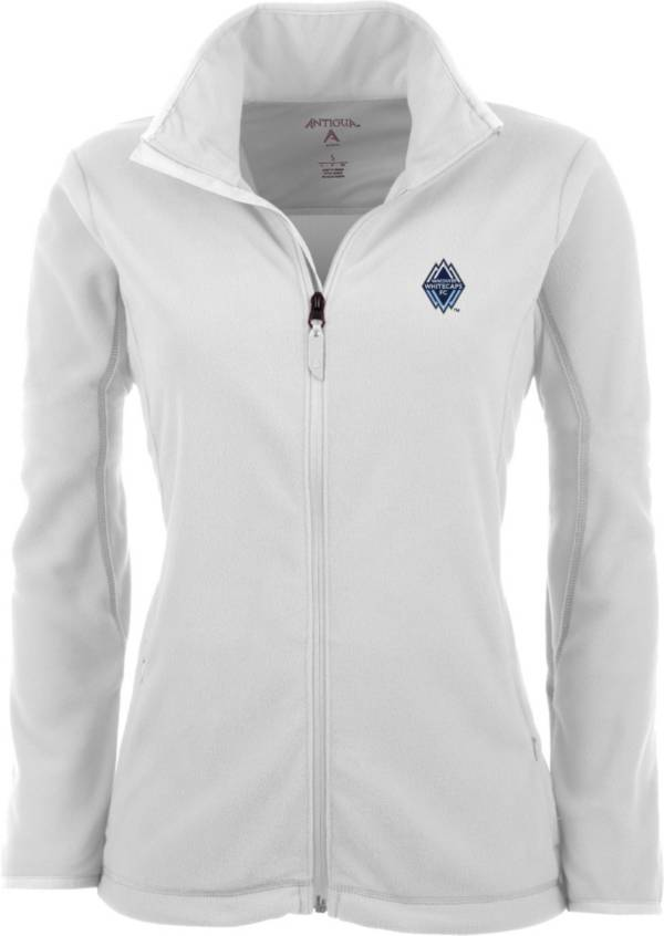 Antigua Women's Vancouver Whitecaps White Ice Full-Zip Fleece Jacket product image
