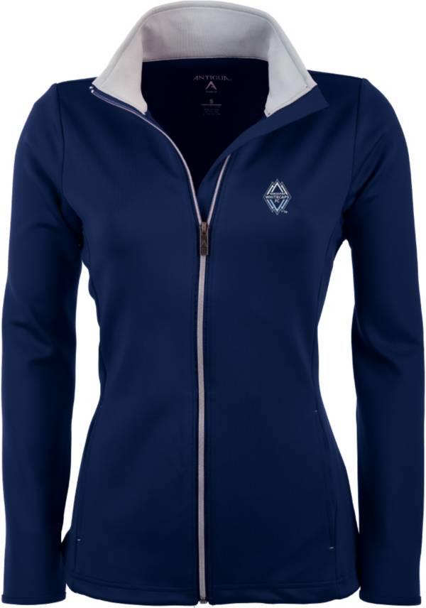 Antigua Women's Vancouver Whitecaps Navy Leader Full-Zip Jacket product image