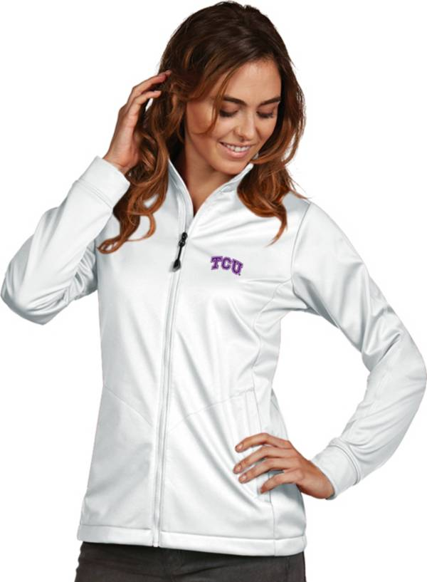 Antigua Women's TCU Horned Frogs White Performance Golf Jacket product image