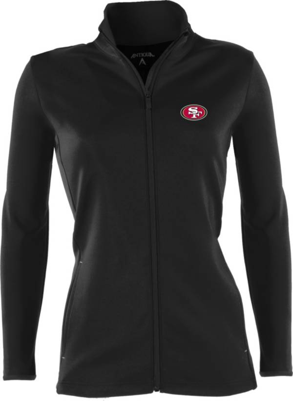 Antigua Women's San Francisco 49ers Leader Full-Zip Black Jacket product image