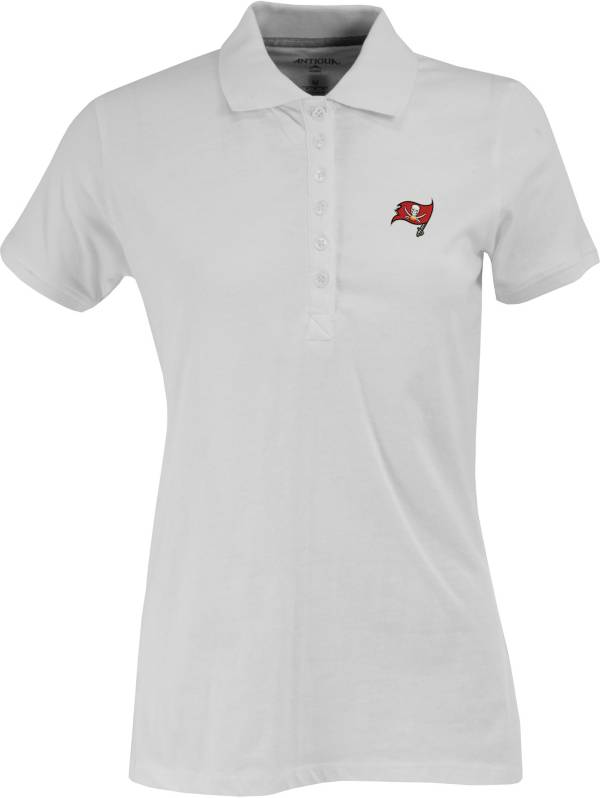 Antigua Women's Tampa Bay Buccaneers White Spark Polo product image