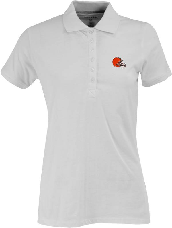 Antigua Women's Cleveland Browns White Spark Polo product image