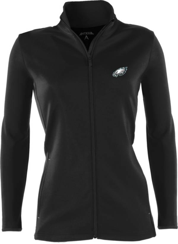 Antigua Women's Philadelphia Eagles Leader Black Full-Zip Jacket product image