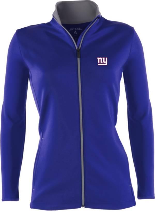 Antigua Women's New York Giants Leader Full-Zip Royal Jacket product image