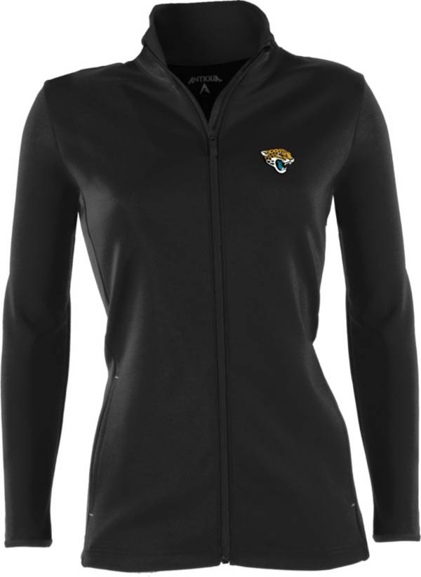 Antigua Women's Jacksonville Jaguars Leader Black Full-Zip Jacket product image