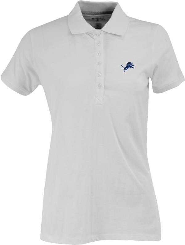 Antigua Women's Detroit Lions White Spark Polo product image