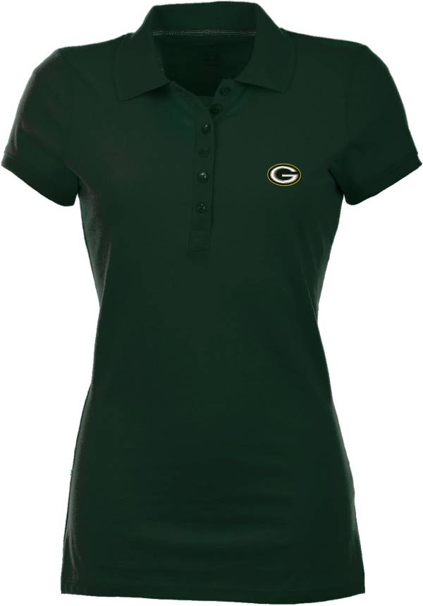 Antigua Women's Green Bay Packers Green Spark Polo product image
