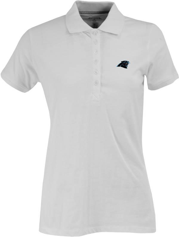 Antigua Women's Carolina Panthers White Spark Polo product image