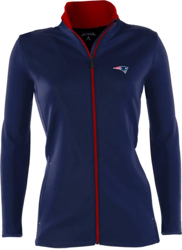 Antigua Women's New England Patriots Leader Full-Zip Navy Jacket product image