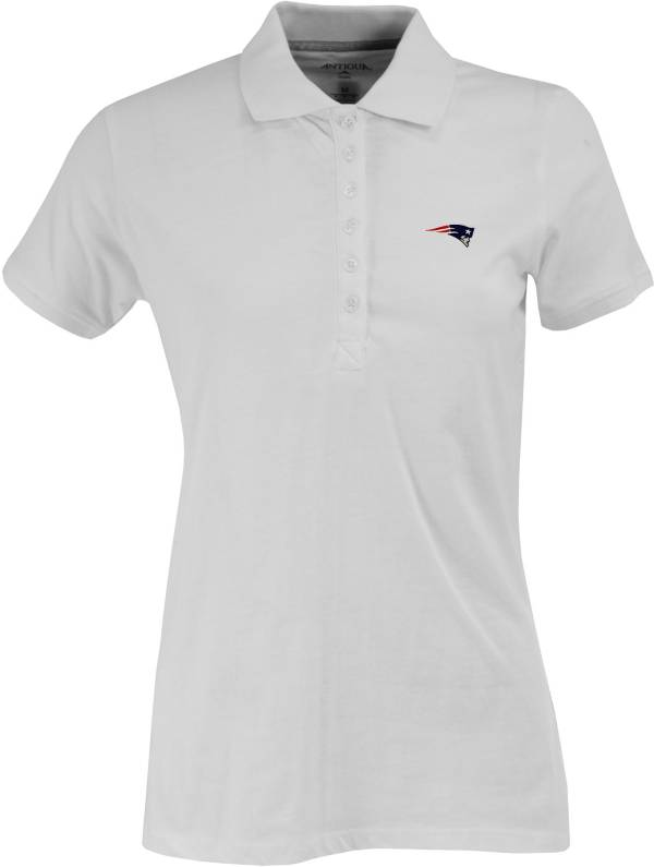 Antigua Women's New England Patriots White Spark Polo product image
