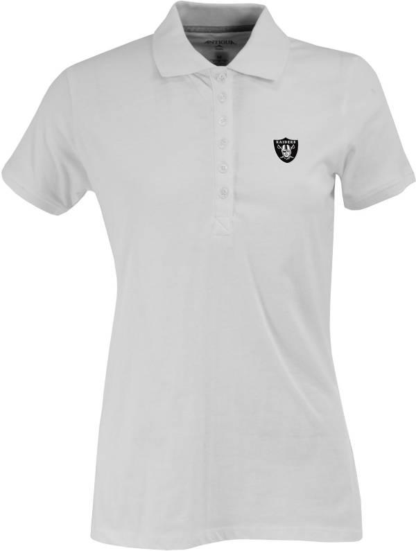 Antigua Women's Las Vegas Raiders White Spark Polo product image