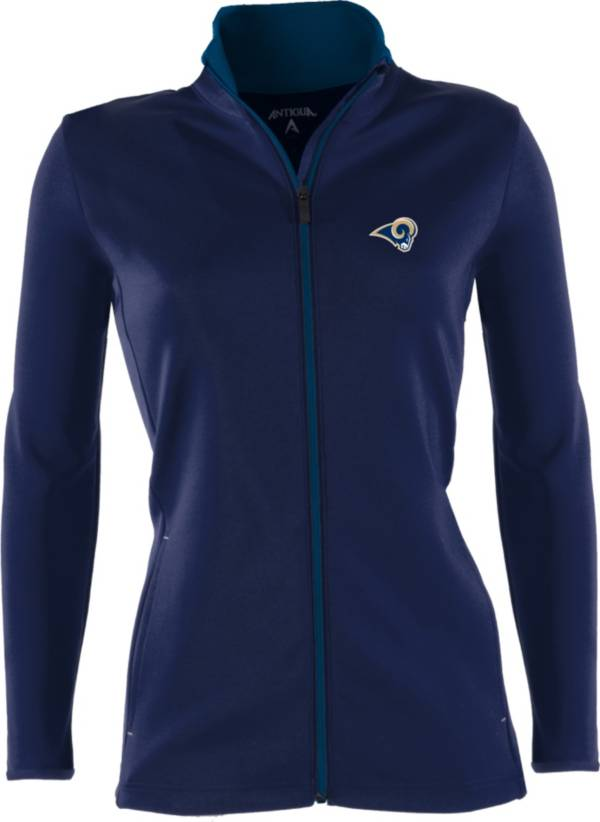 Antigua Women's Los Angeles Rams Leader Navy Full-Zip Jacket product image