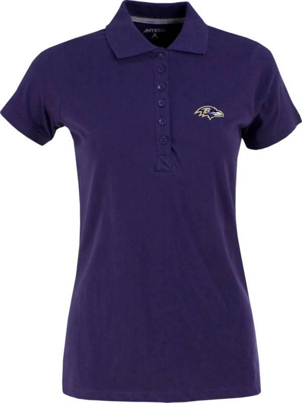 Antigua Women's Baltimore Ravens Purple Spark Polo product image