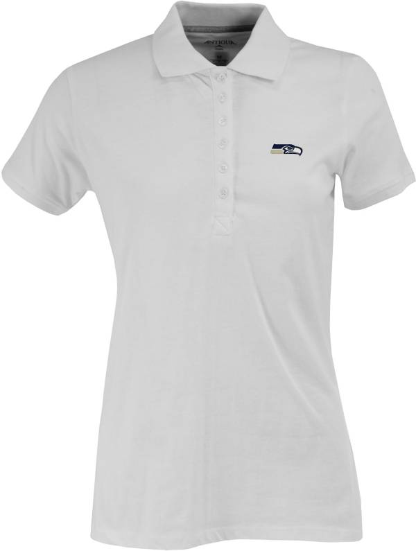 Antigua Women's Seattle Seahawks White Spark Polo product image