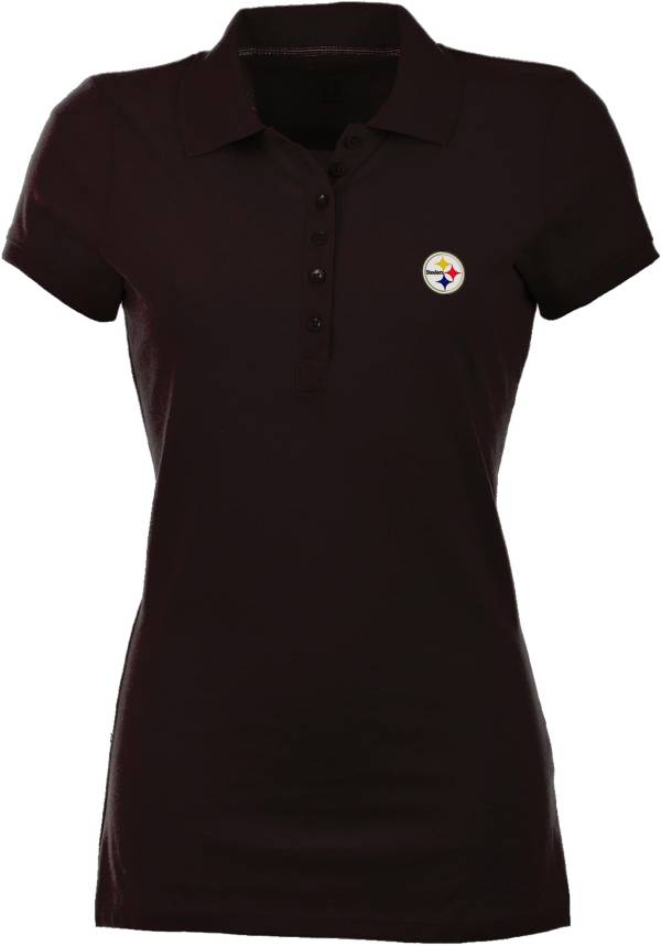 Antigua Women's Pittsburgh Steelers Black Spark Polo product image