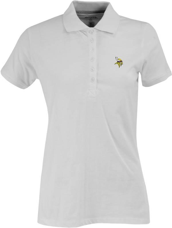 Antigua Women's Minnesota Vikings White Spark Polo product image