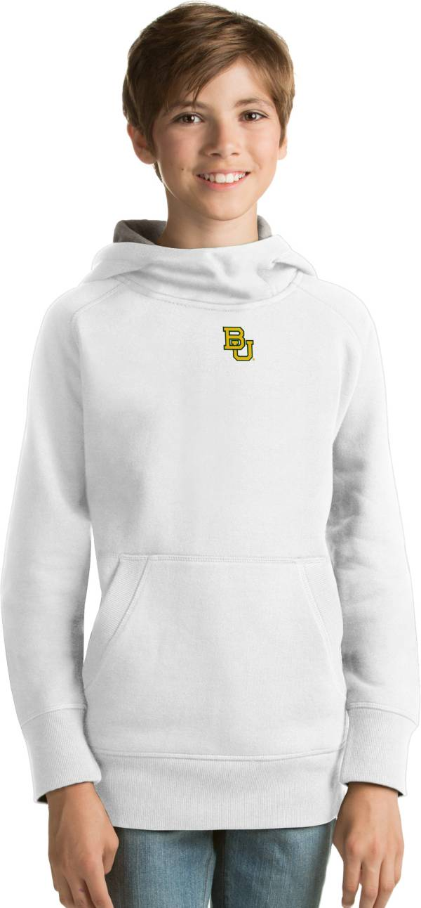 Antigua Youth Baylor Bears White Victory Pullover Hoodie product image