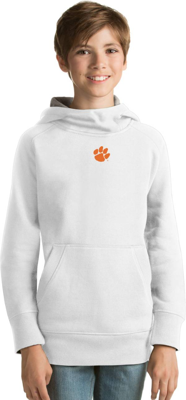 Antigua Youth Clemson Tigers White Victory Pullover Hoodie product image