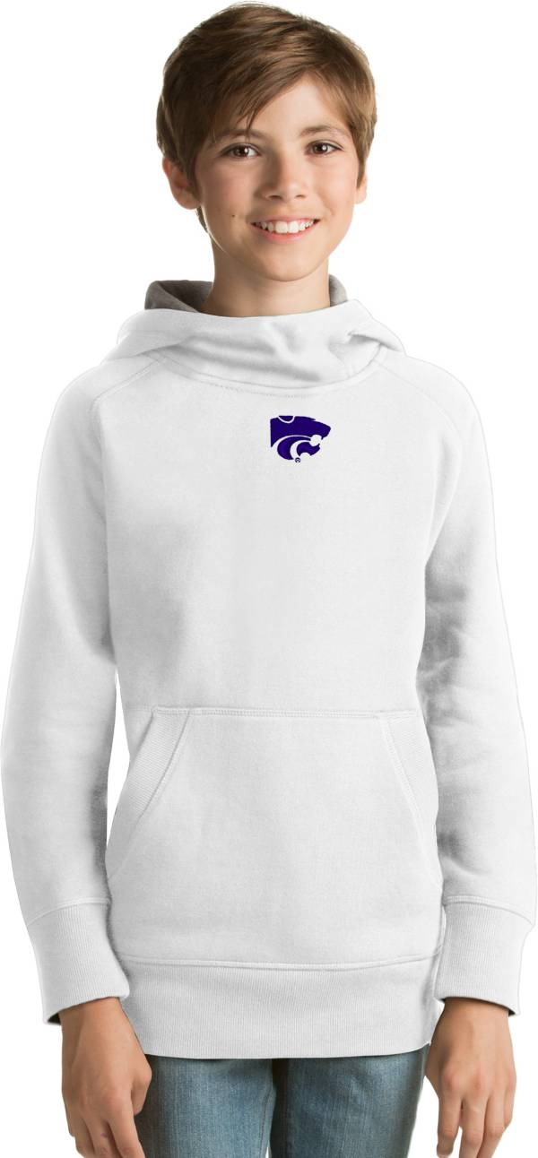 Antigua Youth Kansas State Wildcats White Victory Pullover Hoodie product image