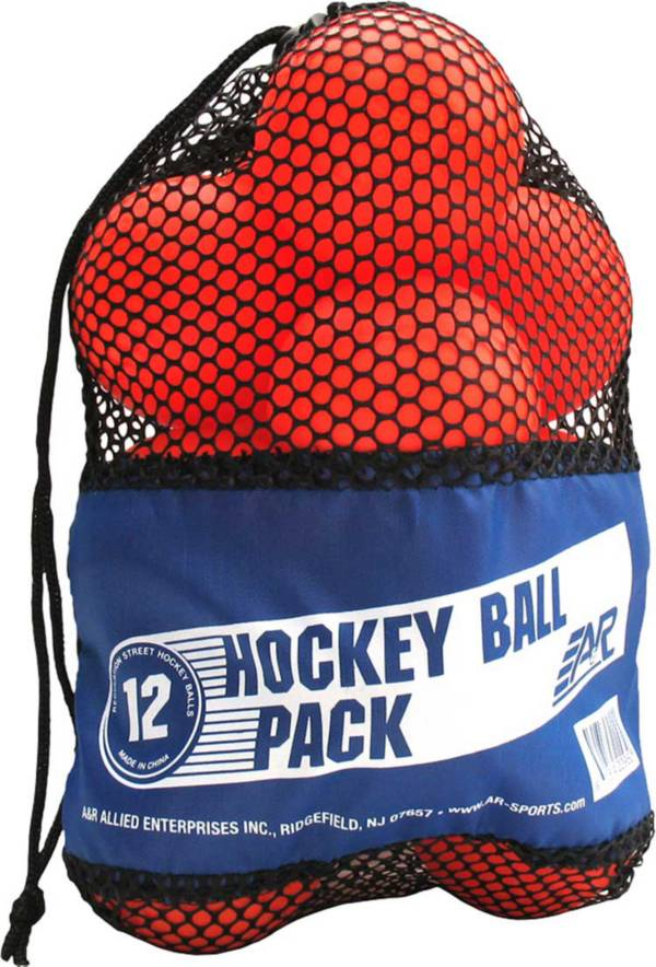 A&R Sports Low Bounce Warm Weather Street Hockey Ball 12 Pack product image