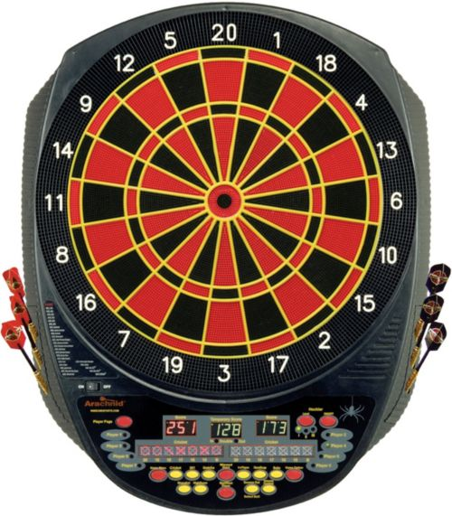 Arachnid cricket pro 900 talking electronic dartboard with soft.