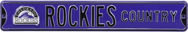 Authentic Street Signs Colorado Rockies 'Rockies Country' Street Sign product image