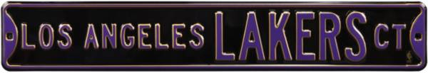 Authentic Street Signs Los Angeles Lakers Black Court Sign product image