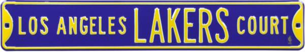 Authentic Street Signs Los Angeles Lakers Purple Court Sign product image