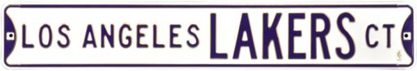 Authentic Street Signs Los Angeles Lakers White Court Sign product image