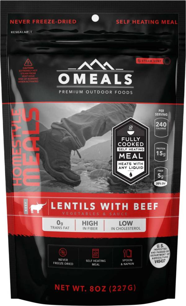 OMEALS 8 oz. Lentils with Beef product image