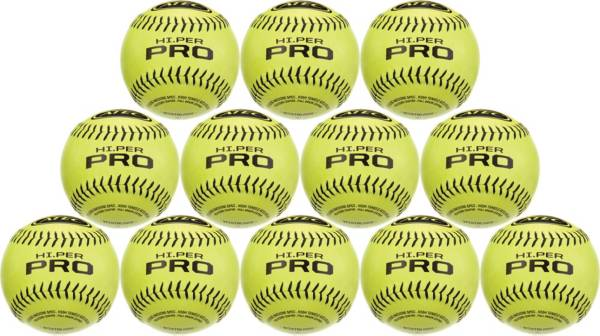 """ATEC 12"""" Hi.Per Pro Leather Training Fastpitch Softballs - 12 Pack product image"""