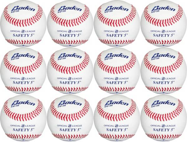 Baden Official Level-5 Safety Baseballs – 12 Pack product image