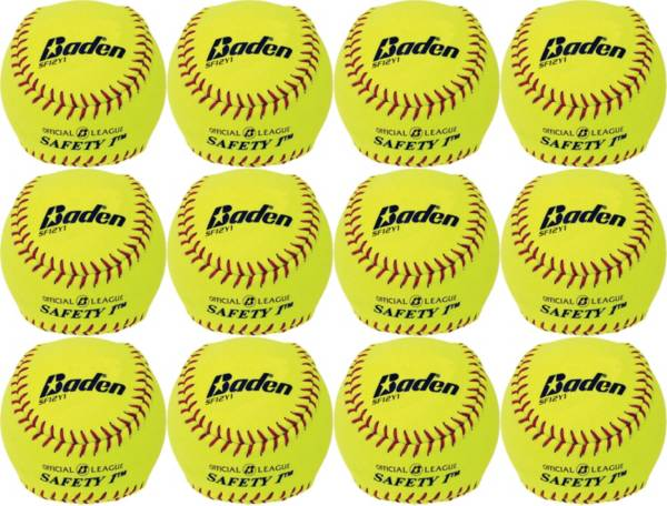 Baden 12'' Safety 1 Softballs – 12 Pack product image