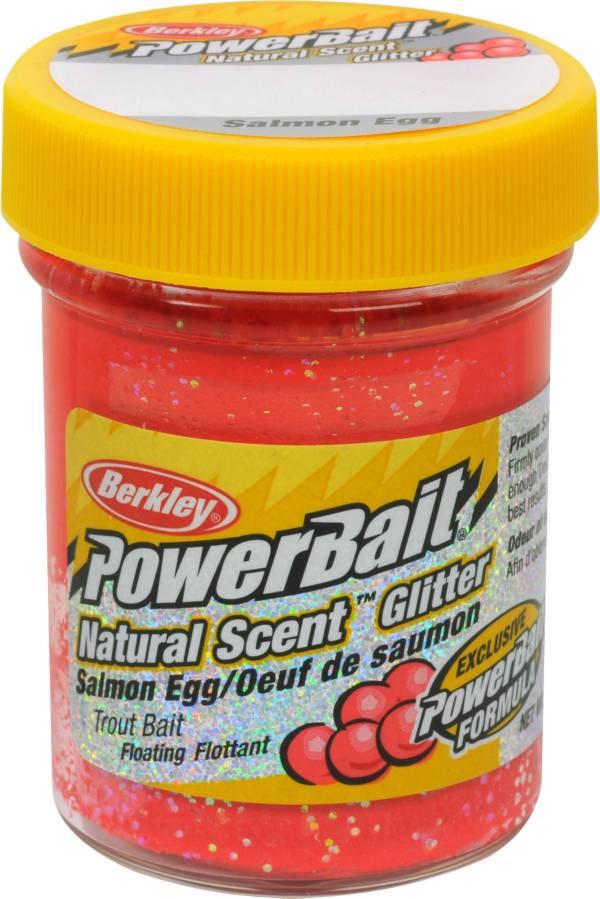 Berkley PowerBait Natural Scent Glitter Trout Dough Bait – Salmon Egg Flavor product image