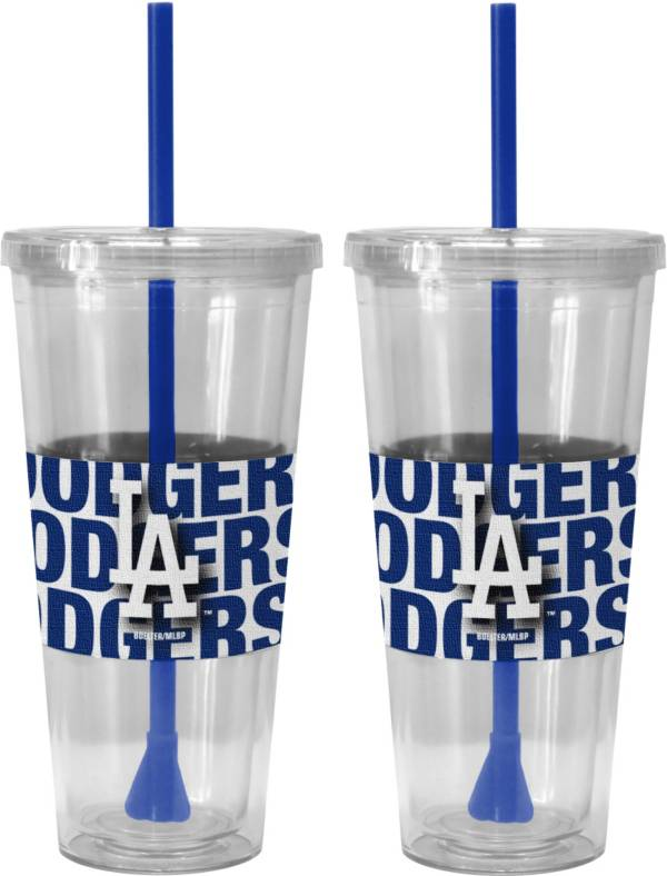 Boelter Los Angeles Dodgers Bold Sleeved 22oz Straw Tumbler 2-Pack product image