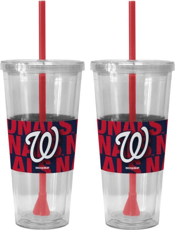Boelter Washington Nationals Bold Sleeved 22oz Straw Tumbler 2-Pack product image